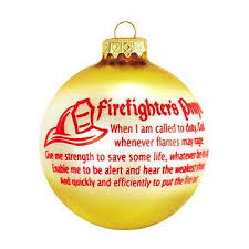 firefighter s prayer ornament occupations ornaments
