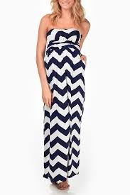 chevron maxi dress navy blue white chevron maternity maxi dress