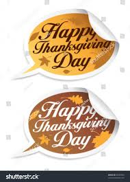 happy thanksgiving day stickers form speech stock vector 63589090