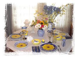 shannon u0027s shanonigins blue white u0026 yellow spring tablescape