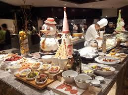nice xmas buffet decor picture of cafe hyatt regency hong kong