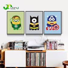 aliexpress com buy 3 panel wall art superhero batman poster