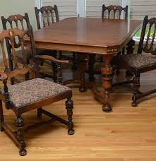 Antique Style Dining Table And Chairs Jacobean Style Dining Room Table And Chairs Ebth