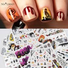 Halloween Nail Art Pumpkin - aliexpress com buy 48pcs halloween nail water decals pumpkin