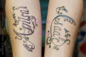 fancy script lettering tattoo designs by denise a wells flickr