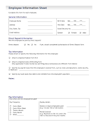 employees information sheet best photos of employee paid in full form template paid in full