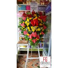 flower stand congratulatory greeting flower stand fg davao flowers gifts