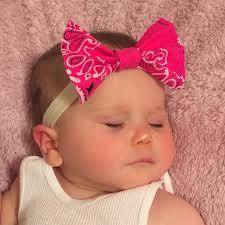 bandana bow pink bandana headband bandana bow headband by simplyhandymandy