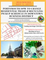 waste collection schedule city of portsmouth