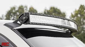 curved led light bar 1999 2006 gm 54 inch curved led light bar upper windshield mount by
