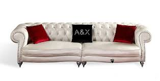White Leather Tufted Sofa White Leather Tufted Sofa Facil Furniture