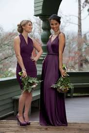 bridesmaid dress rentals a high low purple bridesmaid dress spotted on weddington way