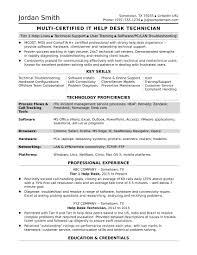 it help desk resume entry level sle resume for a midlevel it help desk professional monster com