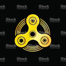 golden hand spinner emblem stock vector art 815680600 istock
