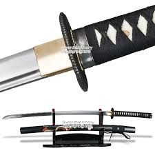 musha brand 1045 steel samurai sword katana sharp edge black