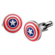 captain america shield light target men s marvel captain america shield logo stainless steel cufflinks