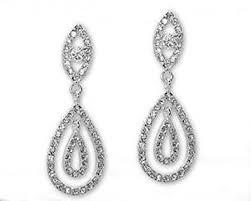clip on chandelier earrings tear drop clip on earring wedding