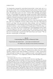 writing introduction to research paper introduction research parks in the 21st century understanding page 13
