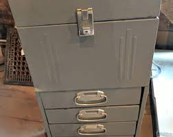 Vintage Metal File Cabinet Metal File Cabinet Etsy