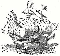 historical sailing ship drawing the golden hind