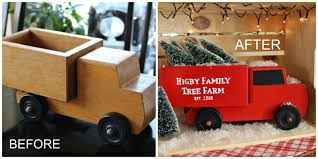 posed perfection holiday crate x 10 vintage truck with
