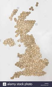 Map Of England And Ireland by Map Of England Scotland And Ireland Made Of Brown Fresh Roasted