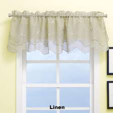 zurich valance embroidered double scalloped window valance