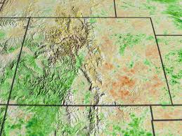 Map Of Eastern Colorado by Svs Ndvi Anomalies Show Areas Of Likely Drought In The Western Us