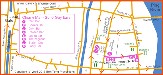 Boystown Chicago Map by Chiang Mai Guide Bars Pubs Cafes Restaurants