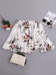 s blouse floral flare sleeve shoulder blouse white blouses s zaful