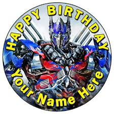 optimus prime cake topper transformers optimus prime 7 5 personalised edible icing