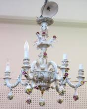 Italian Porcelain Chandelier Capodimonte Porcelain For Sale At Online Auction Buy Rare