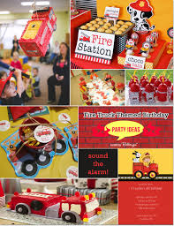 fire truck themed birthday ideas