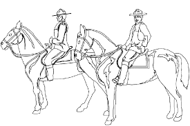 coloriage cheval chevaux 5 à colorier allofamille