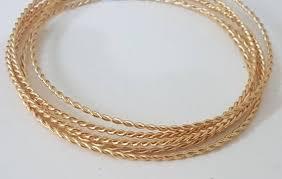 gold bangles bracelet images Stacking gold bangles 14k bangle bracelet women braided etsy jpg