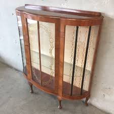 antique curio cabinet with curved glass curio cabinets antique curved glass furniture ideas