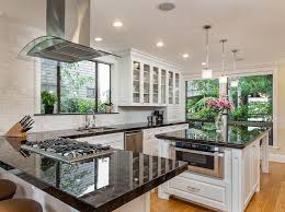black granite kitchen island 50 gorgeous kitchen designs with islands designing idea
