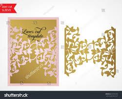 laser cut wood invitations laser cut wedding invitation template die stock vector 405961060