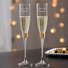 wedding glasses engraved wedding chagne flutes gold hammered