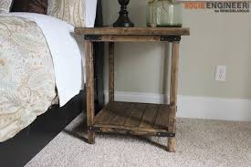 simple side table plans simple square side table free diy plans square side table table