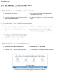 quiz u0026 worksheet ecological imbalance study com