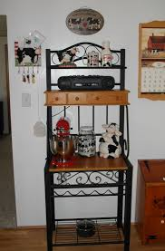 Bakers Racks With Drawers Agreeable Kitchen Bakers Racks With Triangle Shape Metal Kitchen
