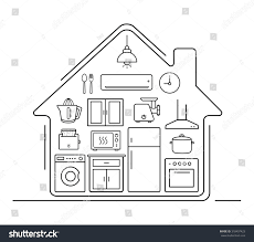 modern kitchenware thin line icons kitchen stock illustration