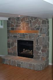 fireplace inspiration wonderful grey stones wall exposed double
