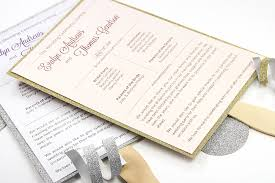 program fans wedding make your own glitter layered wedding program fan