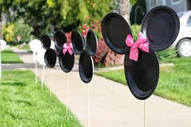 minnie mouse homemade birthday decorations image inspiration of