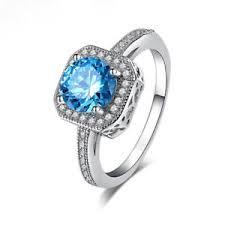 engagement ring uk uk women 925 sterling silver blue diamond engagement ring wedding