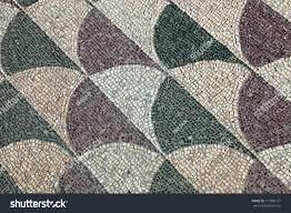 mosaics on floor baths caracalla rome stock photo 117965131
