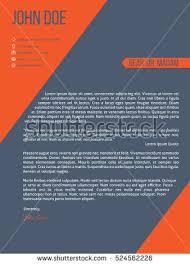 Resume Template Design Modern Resume Cv Curriculum Vitae Template Stock Vector 417964276
