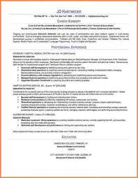 Resume Professional Statement Examples by 8 Resume Professional Summary Example Professional Resume List